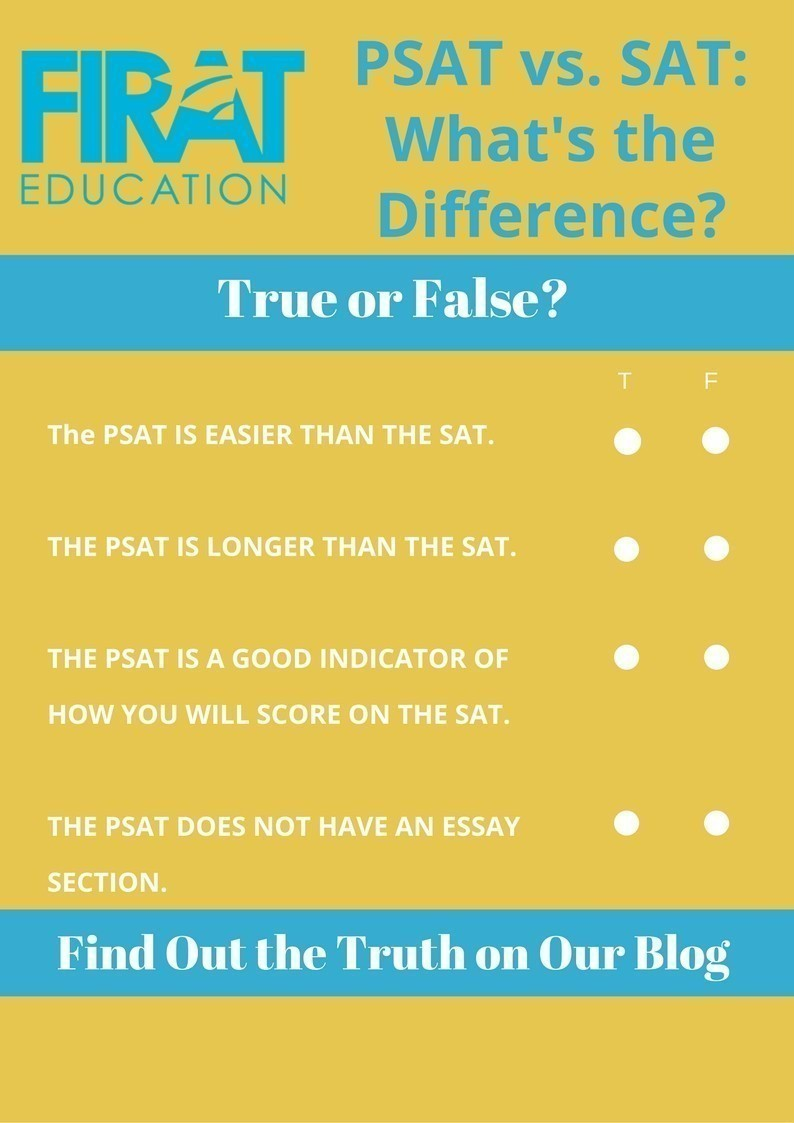 psat vs sat what s the difference firat education