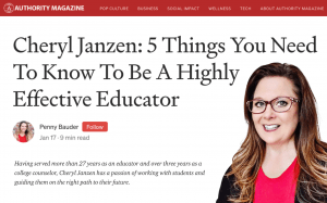 Cheryl Jaznen is a college admissions consultant for Firat Education